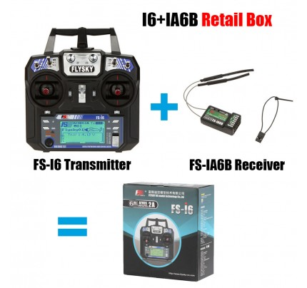 Flysky FS-i6 with FS-iA6B Receiver 2.4G 6ch Transitter Controller For RC Helicopter Airplane Quadcopter