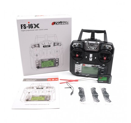 Flysky FS-i6X 2.4GHz 10CH RC Transmitter With i-BUS Receiver For RC Heli Quadcopter Airplane