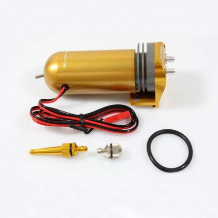 Miracle Rc Metal Electric Fuel Pump 7 2 12v For Gas And Nitro Aluminum Anonized Version