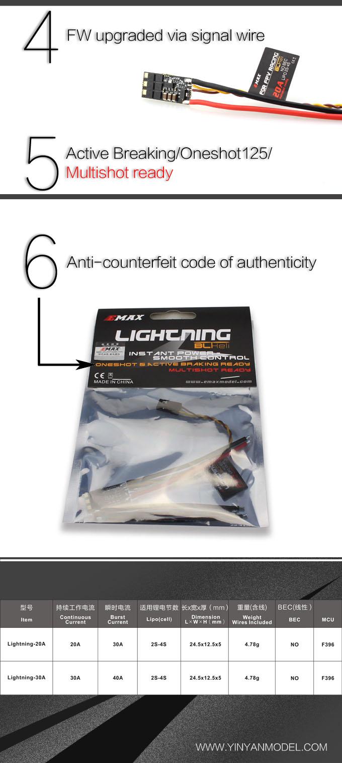 Lightning BLHeli 20A esc