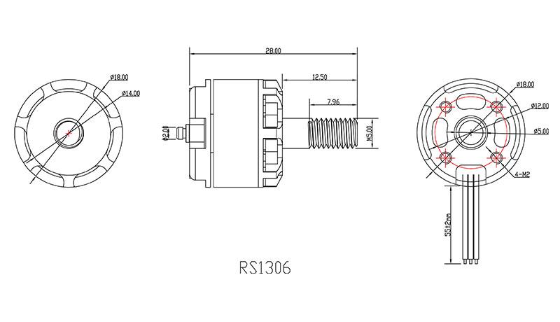 Emax RS1306 Racing Motor