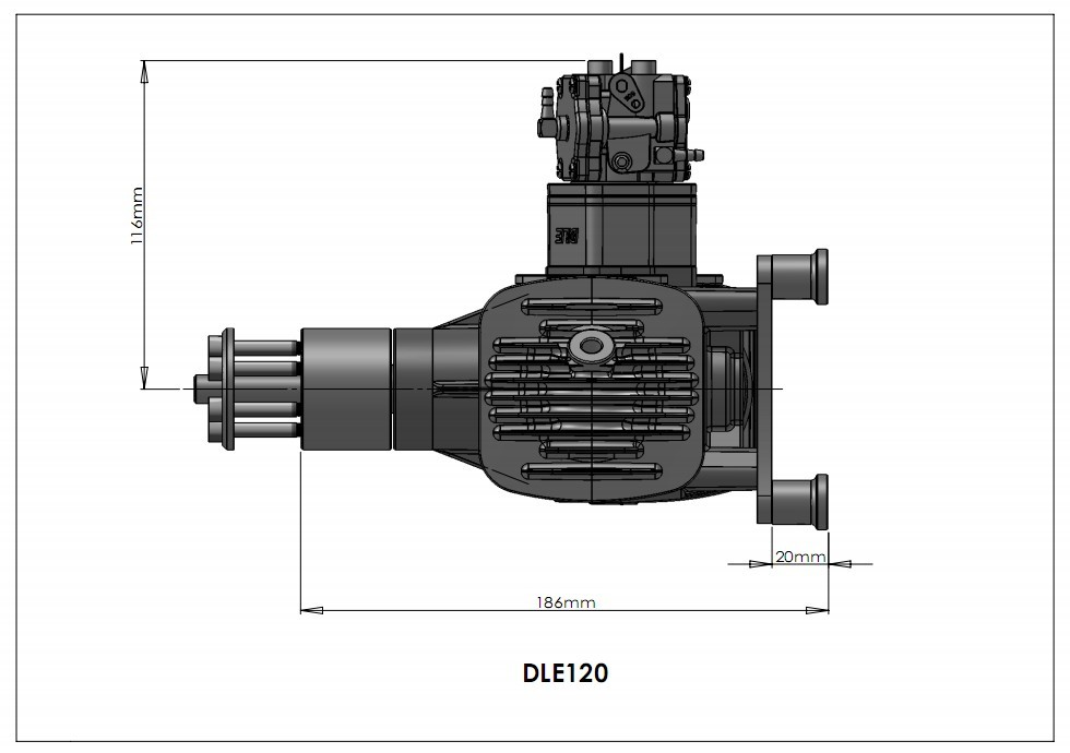 dle120 twin gasoline engines    petrol engines dle120 for