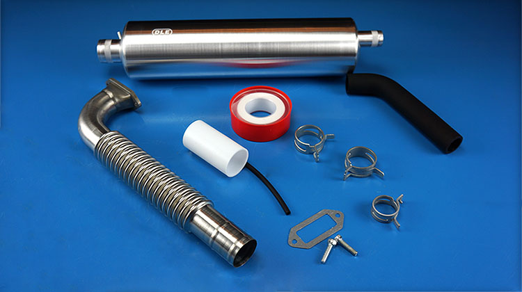 DLE170 Muffler Canister Set