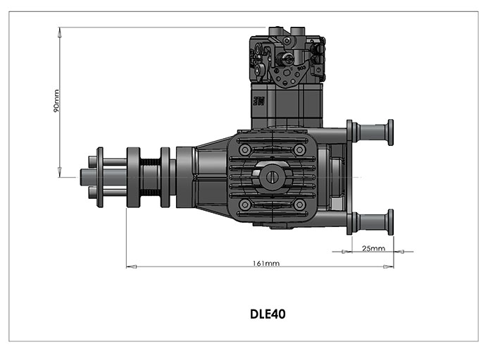 dle40 gas engine