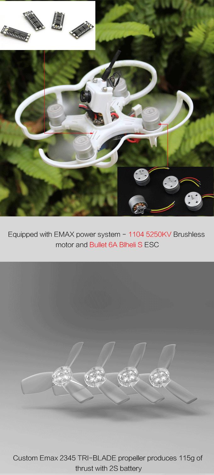 EMAX Babyhawk 87mm Femto F3 Bullet 6A 1104 5250kv Brushless Motor Mirco Brushless FPV Racer